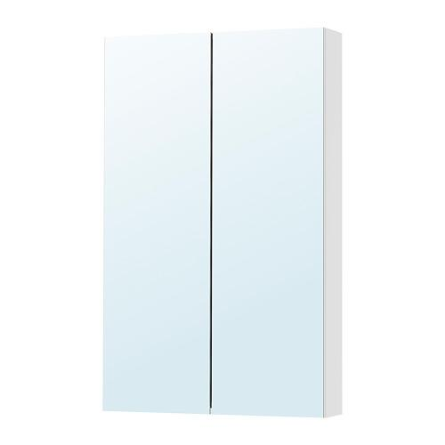 GODMORGON Mirror cabinet with doors 2 - 60x14x96 see