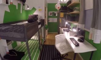 Интерьер детской для двух детей с рабочим местом