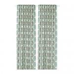 FJÄDERKLINT curtains, 1 pair of white