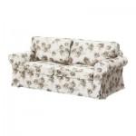 ЭКТОРП Чехол на 2-местный диван-кровать - Норлида белый/бежевый