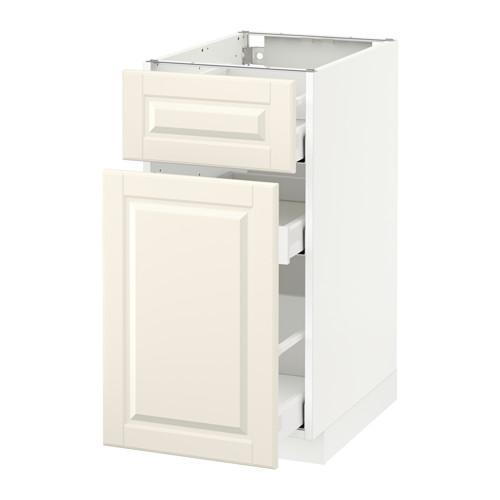МЕТОД / МАКСИМЕРА Напольн шкаф/выдвижн секц/ящик - 40x60 см, Будбин белый с оттенком, белый