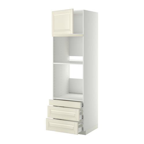МЕТОД / МАКСИМЕРА Выс шкаф д/дхвк/комб дхвк+двр/3ящ - 60x60x200 см, Будбин белый с оттенком, белый