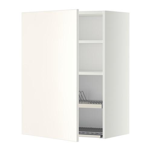 МЕТОД Шкаф навесной с сушкой - 60x80 см, Веддинге белый, белый