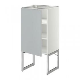 Armadio METODO base con ripiani - 40x37x60 grigio cm di nozze, bianco