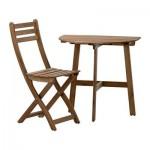 АСКХОЛЬМЕН Балконный стол+1 складной стул