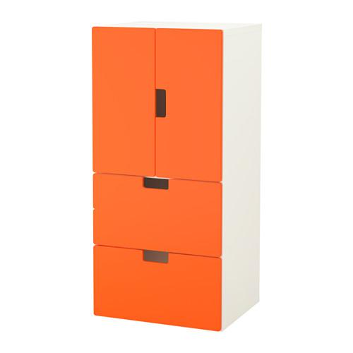 stuva combi for storage with doors drawers white orange reviews price. Black Bedroom Furniture Sets. Home Design Ideas