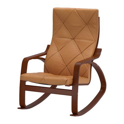 ПОЭНГ Кресло-качалка - Сеглора естественный, классический коричневый
