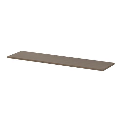 ЭКБИ ХЕМНЭС Полка - серо-коричневый, 119x28 см