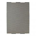 СТОКГОЛЬМ Ковер, безворсовый - 250x350 см, полоска черный/белый с оттенком