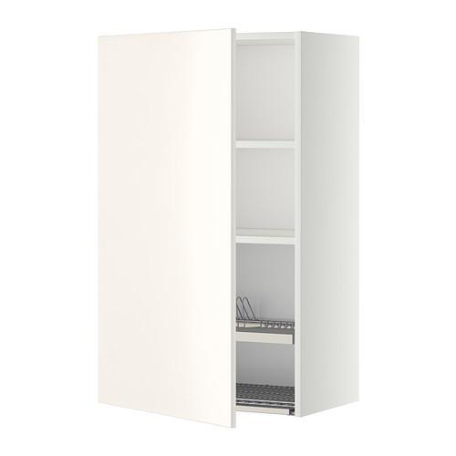 МЕТОД Шкаф навесной с сушкой - 60x100 см, Веддинге белый, белый