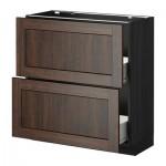 MÉTODO / gabinete FORVARA Base con cajones 2 - 80x37 cm Edserum madera madera marrón negro