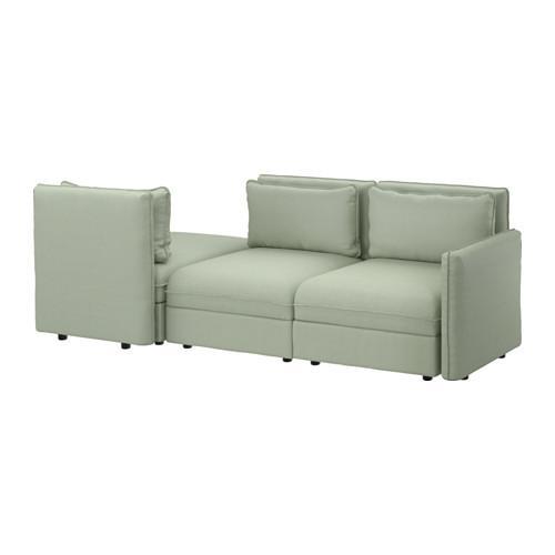 ВАЛЛЕНТУНА 3-местный диван-кровать - Хилларед зеленый