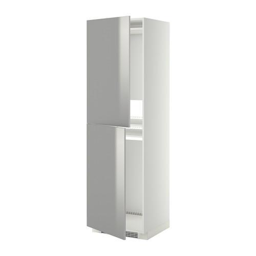 МЕТОД Высок шкаф д холодильн/мороз - 60x60x200 см, Гревста нержавеющ сталь, белый
