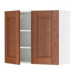 ФАКТУМ Навесной шкаф с 2 дверями - Ликсторп коричневый, 80x70 см