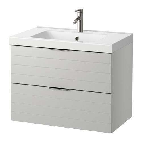 GODMORGON / ODENSVIK armadietto affonda con cassetti 2 - grigio chiaro