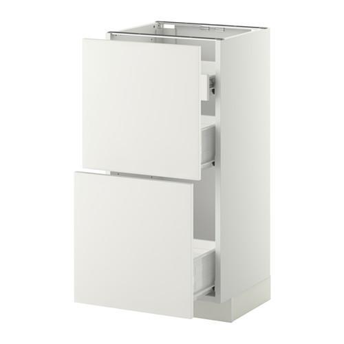 VERFAHREN / FORVARA Nap Schrank 2 FRNT PNL / 1nizk / 2sr Schubladen - weiß, weiß Heggebi, 40x37 cm
