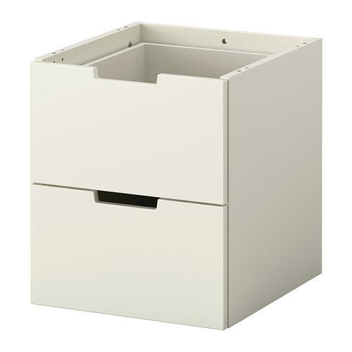 НОРДЛИ Модульный комод с 2 ящиками - 40x45 см