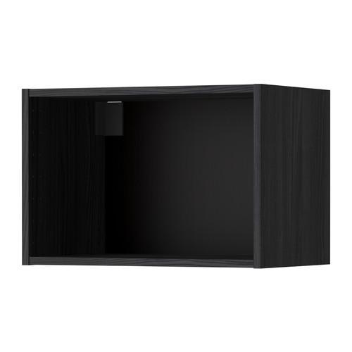 МЕТОД Каркас навесного шкафа - 60x37x40 см, под дерево черный