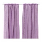 Arya curtains, 2 piece - purple