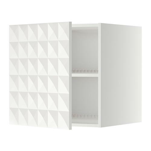 МЕТОД Верх шкаф на холодильн/морозильн - 60x60 см, Гэррестад белый, белый