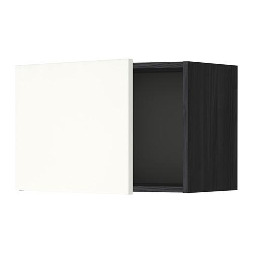 МЕТОД Шкаф навесной - 60x40 см, Хэггеби белый, под дерево черный