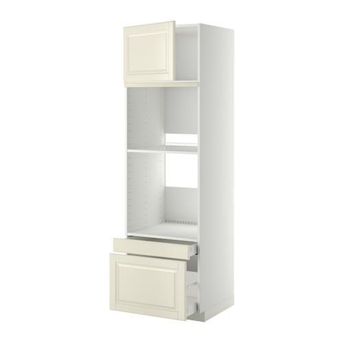 МЕТОД / МАКСИМЕРА Выс шкаф д/дхвк/комб дхвк+двр/2ящ - 60x60x200 см, Будбин белый с оттенком, белый
