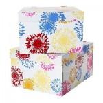 ЛИНГУ Коробка для бумаг с крышкой - цветок