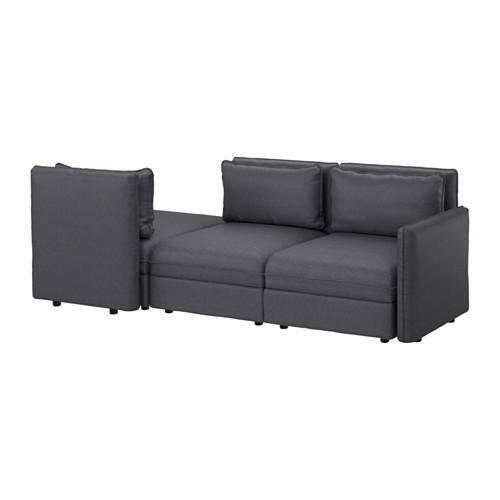 ВАЛЛЕНТУНА 3-местный диван - Хилларед темно-серый, Хилларед темно-серый