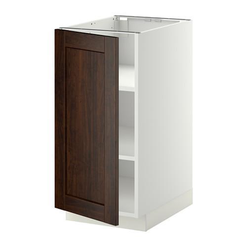 МЕТОД Напольный шкаф с полками - 40x60 см, Эдсерум под дерево коричневый, белый