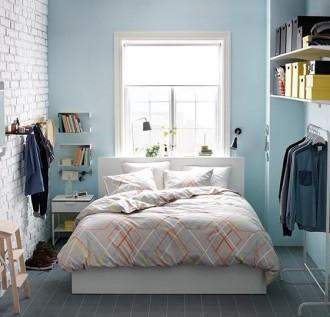 Кровать МАЛЬМ в интерьере спальни