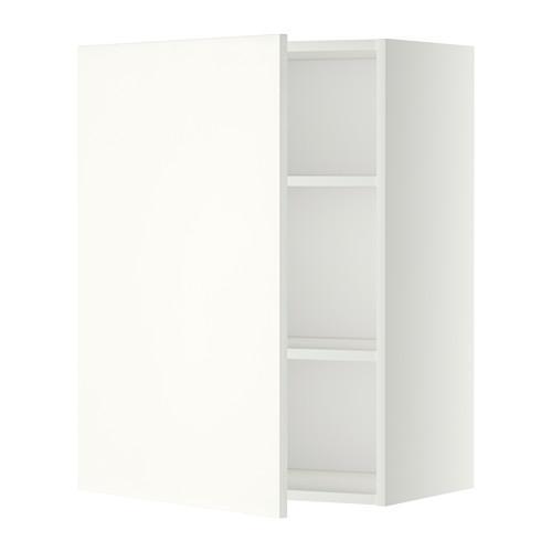 МЕТОД Шкаф навесной с полкой - 60x80 см, Хэггеби белый, белый