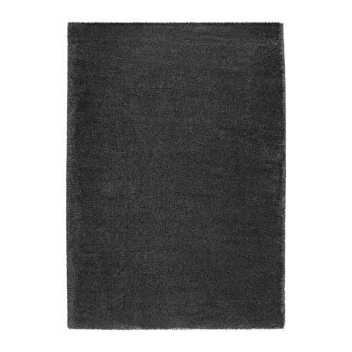 ÅDUM ковер, длинный ворс темно-серый