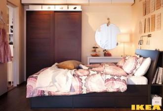 Interior kamar tidur dalam foto gaya modern