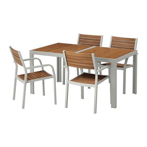 Ikea Eettafel 4 Stoelen.Sjalland Tafel 4 Stoelen D Tuin 192 523 71 Reviews Prijs