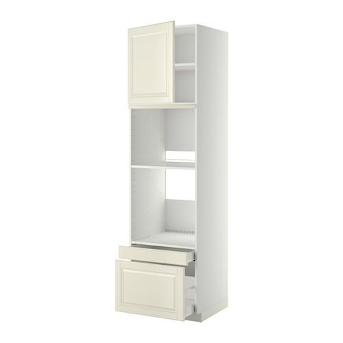 МЕТОД / МАКСИМЕРА Выс шкаф д/дхвк/комб дхвк+двр/2ящ - 60x60x220 см, Будбин белый с оттенком, белый