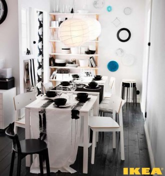 Интерьер столовой комнаты от ИКЕА