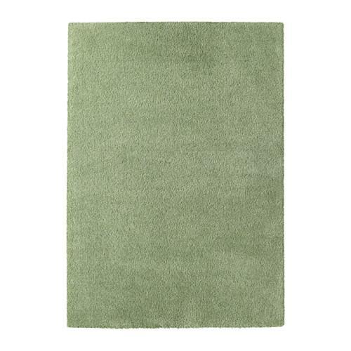ÅDUM ковер, длинный ворс светло-зеленый 170x240 см