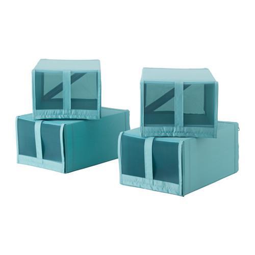 СКУББ Коробка для обуви - голубой