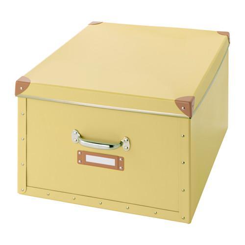 ФЬЕЛЛА Коробка с крышкой - желтый