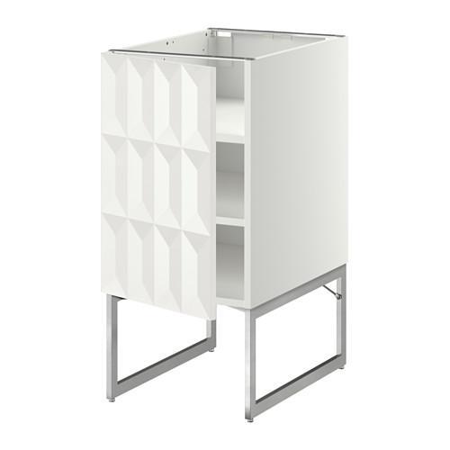 МЕТОД Напольный шкаф с полками - 40x60x60 см, Гэррестад белый, белый