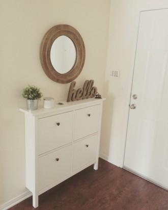 Il mio piccolo corridoio. HEMNES Scarpiera IKEA.