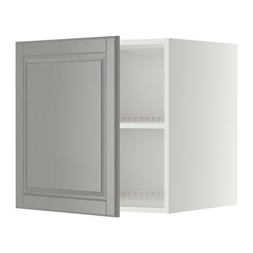 МЕТОД Верх шкаф на холодильн/морозильн - 60x60 см, Будбин серый, белый