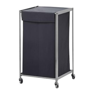 GRUNDTAL Laundry basket on wheels - 132 l
