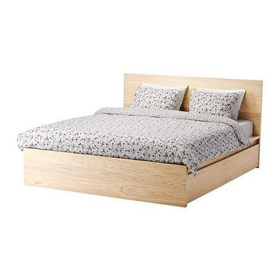 МАЛЬМ Каркас кровати+2 кроватных ящика - 180x200 см, Лурой