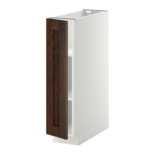 МЕТОД Напольный шкаф с полками - 20x60 см, Эдсерум под дерево коричневый, белый