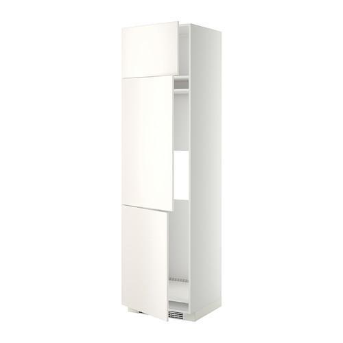 МЕТОД Выс шкаф для хол/мороз с 3 дверями - 60x60x220 см, Веддинге белый, белый