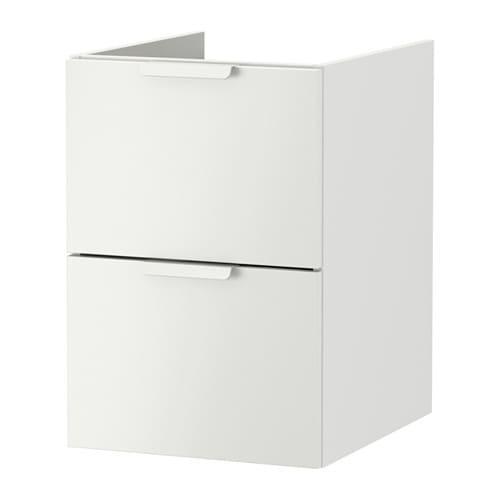 ГОДМОРГОН Шкаф для раковины с 2 ящ - белый, 40x47x58 см