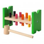 MULA Block with pegs and a hammer