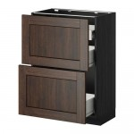 METHOD / FORVARA Napn cabinet 2 fnnt pnl / 1low / 2c box The box is black for wood, Edserm is brown for wood, cm 60xXNNX