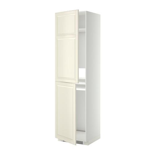 МЕТОД Высок шкаф д холодильн/мороз - 60x60x220 см, Будбин белый с оттенком, белый
